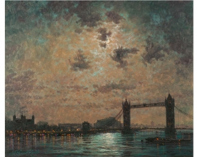 Moonlight Across Tower Bridge
