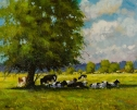 Cows In The Shade (2) by A.W Smith
