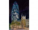 The Gherkin At Night by Eddy Dodwell