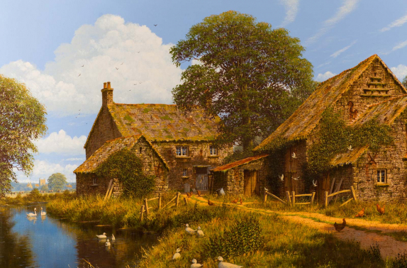 "Artist: Edward Hersey - ""River Awakens"", original oil painting on canvas."