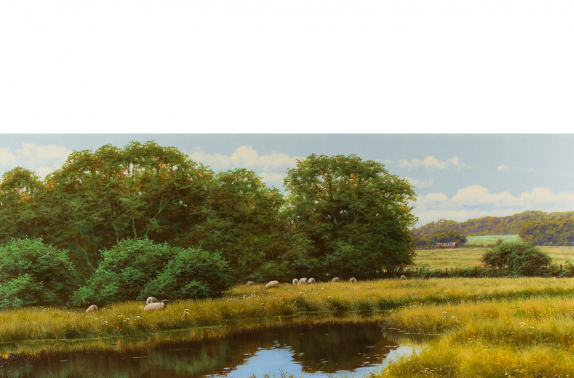 "Artist: David Morgan ""Glorious Hampshire"", original oil painting on canvas."